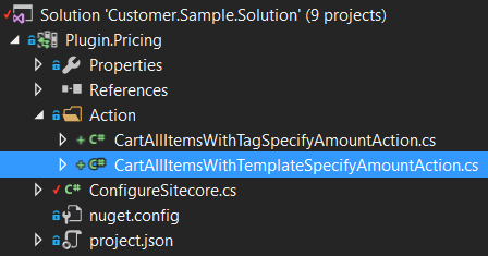 sitecore commerce plugin examples for promotions by product tag or